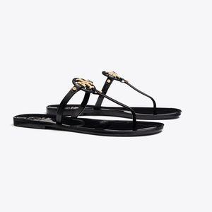 Tory Burch Mini Miller Flat Thong Jelly Sandals